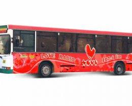 Наружная реклама на автобусах