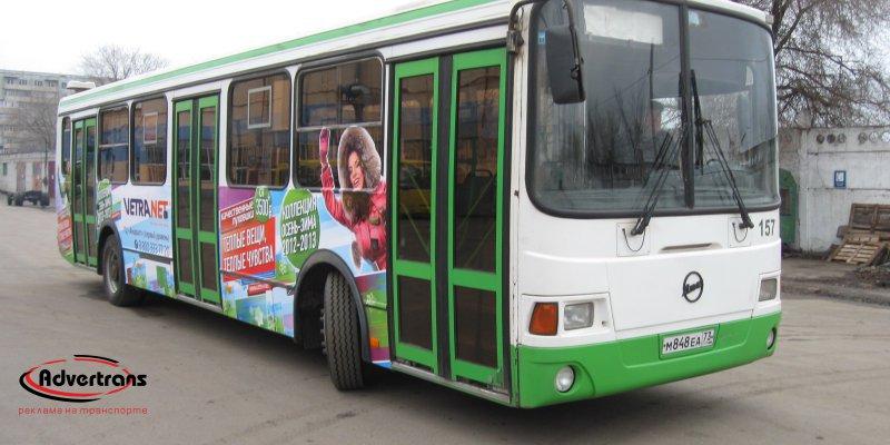 Реклама на автобусах Барнаула